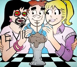 Veronica Betty Archie milkshake