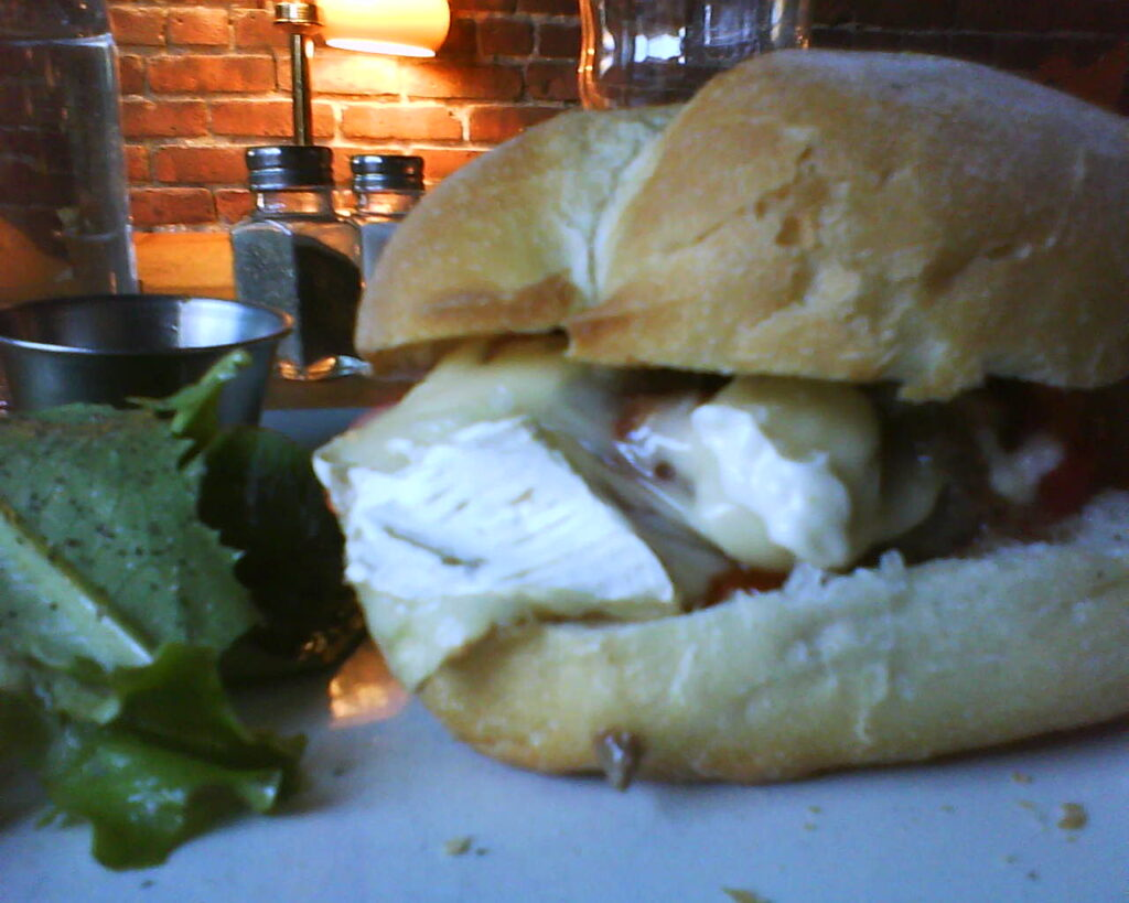 bison burger with brie