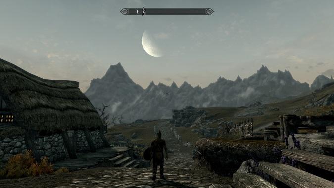 skyrim moon landscape